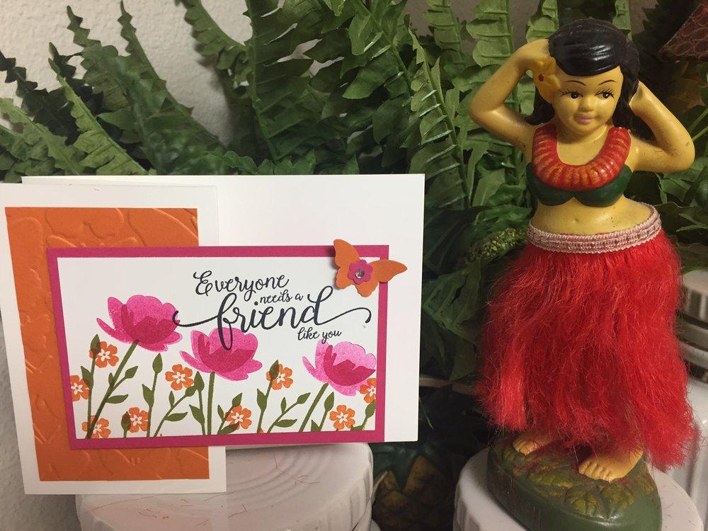 Jar of Love Friendship Card - www.stampedwithaloha.com