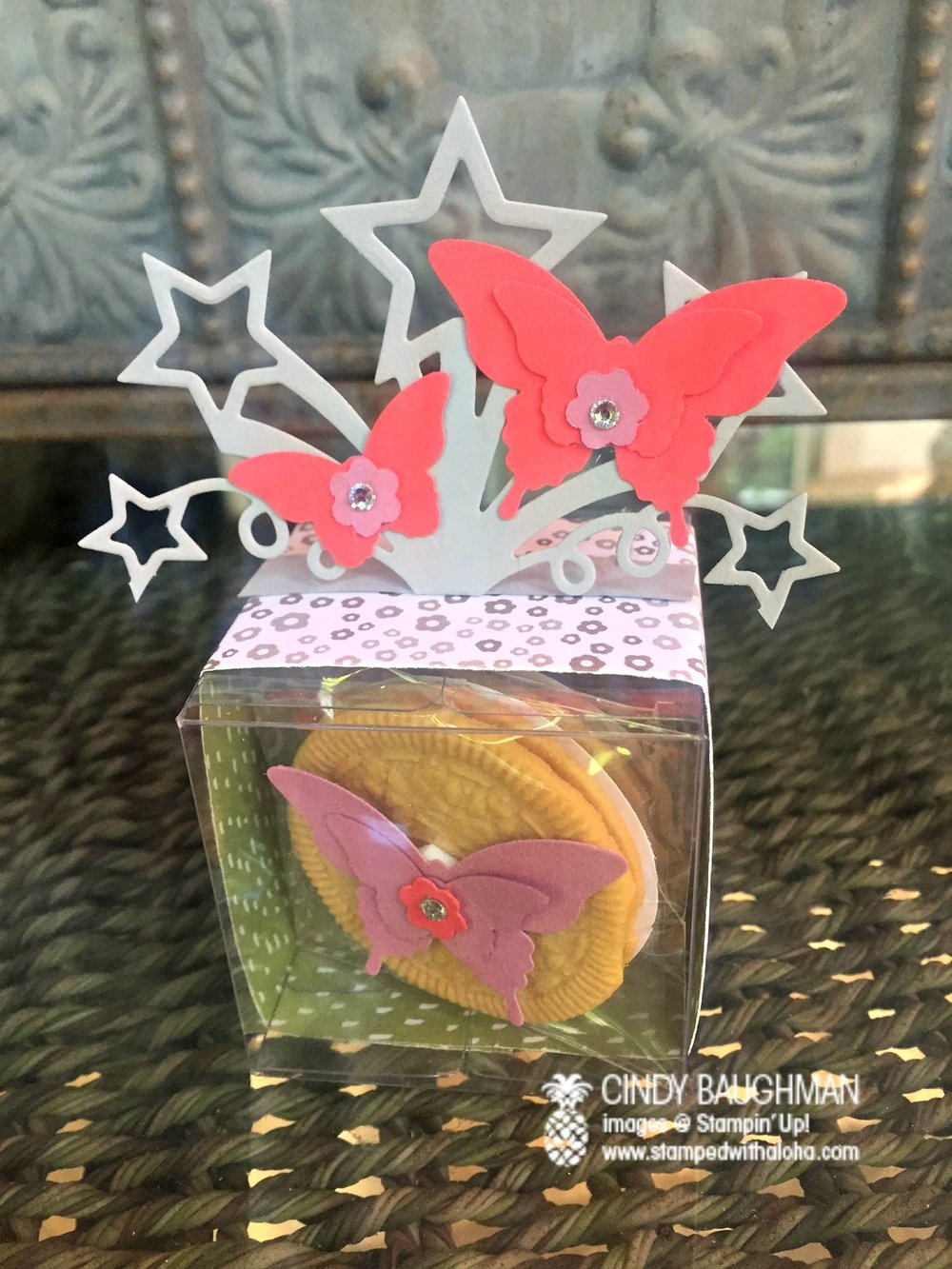 Butterfly Tiny Treat Box - www.stampedwithaloha.com