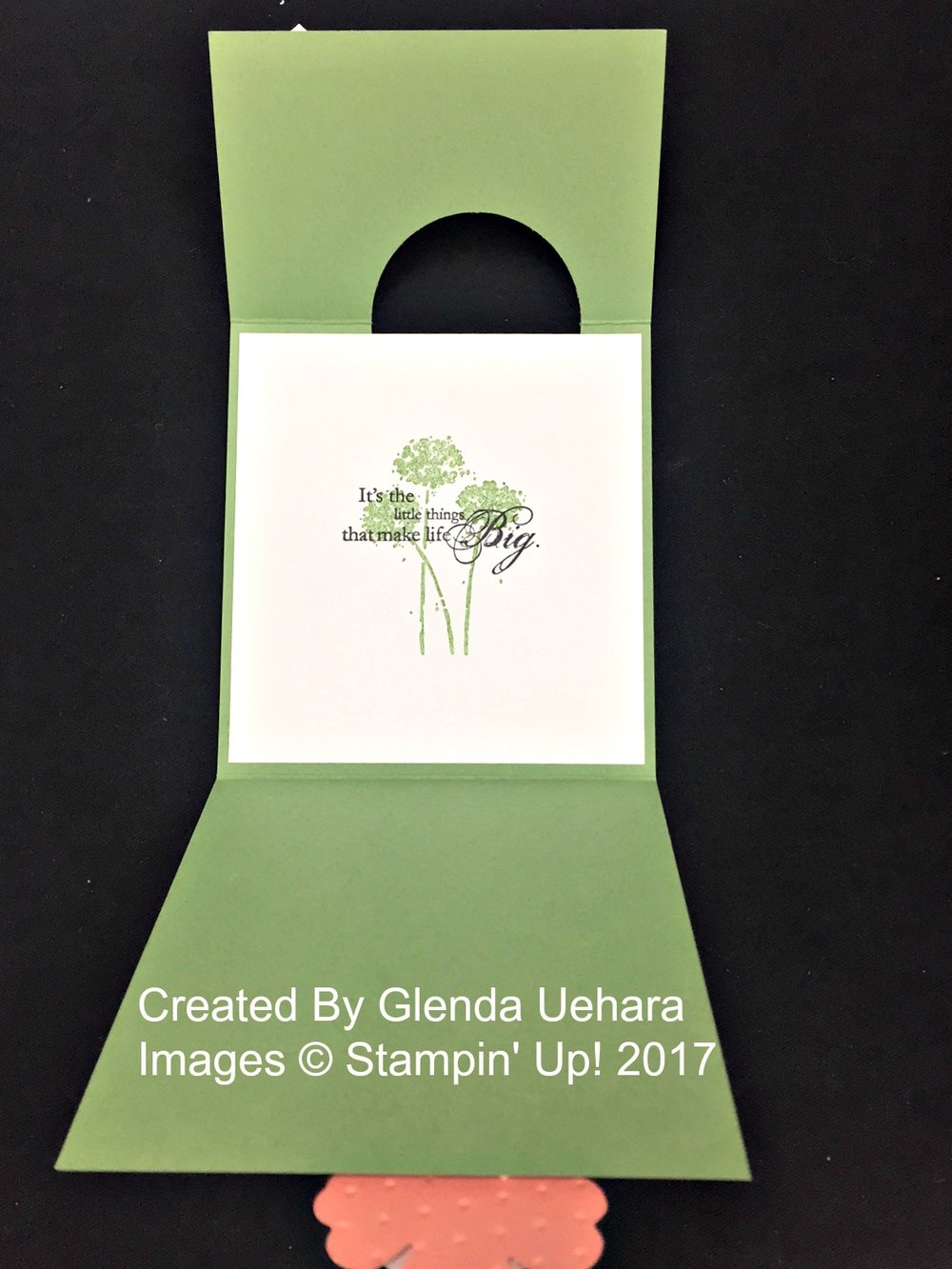 Glenda's card (inside) - www.stampedwithaloha.com