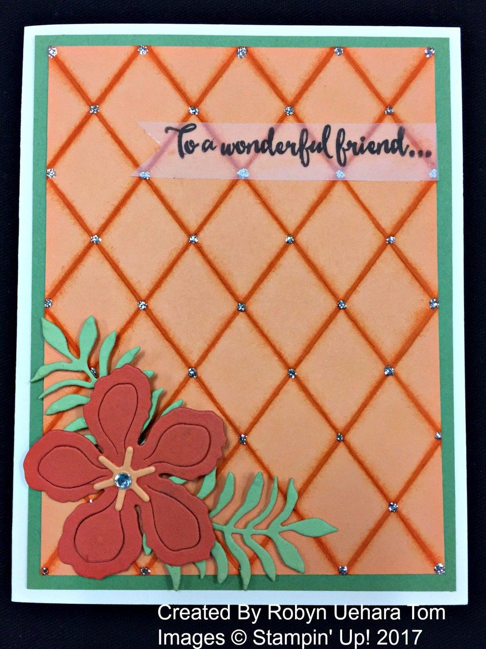 Robyn's Card - www.stampedwithaloha.com