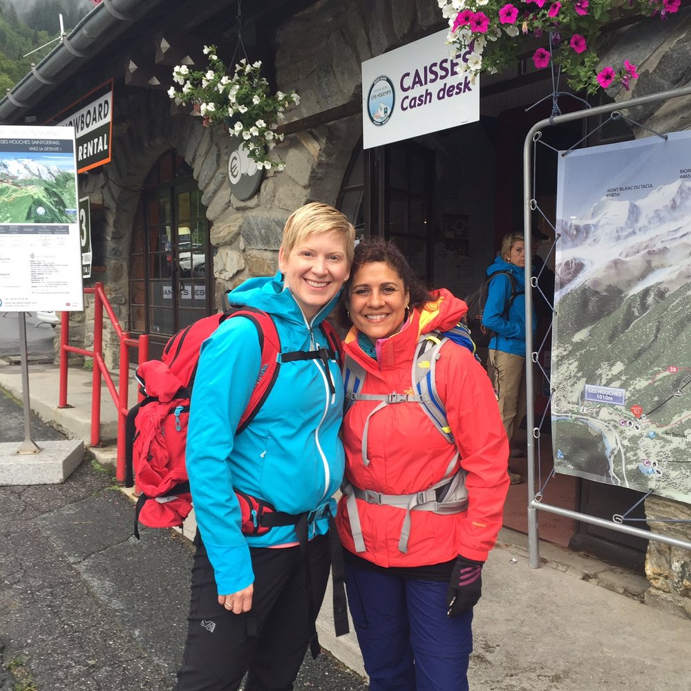 Lynsay and Cindy - Day 2 Tour Du Mont Blanc - July 2016