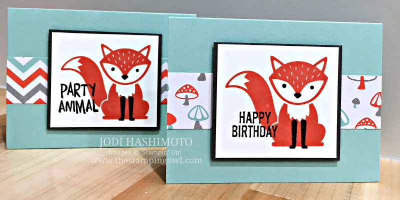 A Little Foxy Mini Cards - www.stampedwithaloha.com