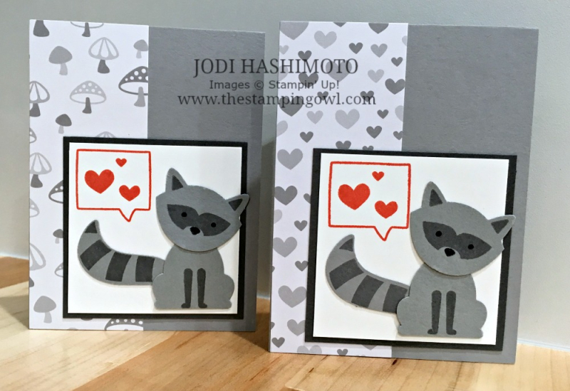 Raccoon Cards - www.stampedwithaloha.com