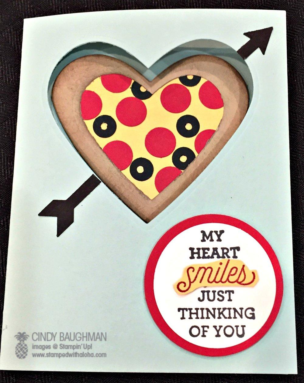Pizza Card - www.stampedwithaloha.com