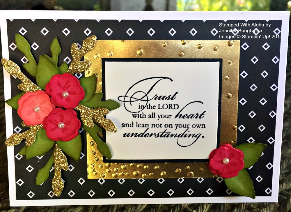 Trust in the Lord Card - www.stampedwithaloha.com
