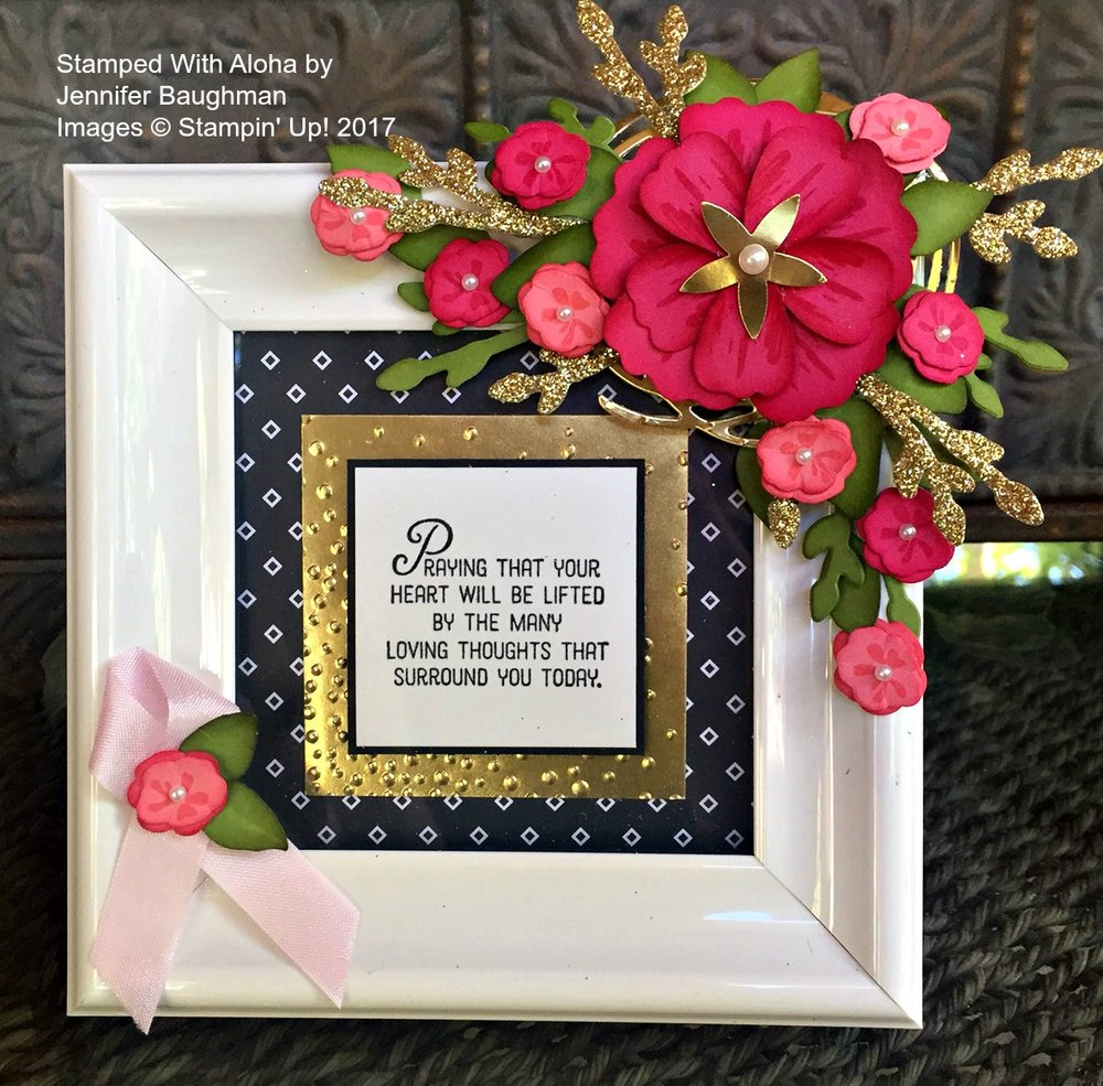 Thoughts and Prayers Frame - www.stampedwithaloha.com