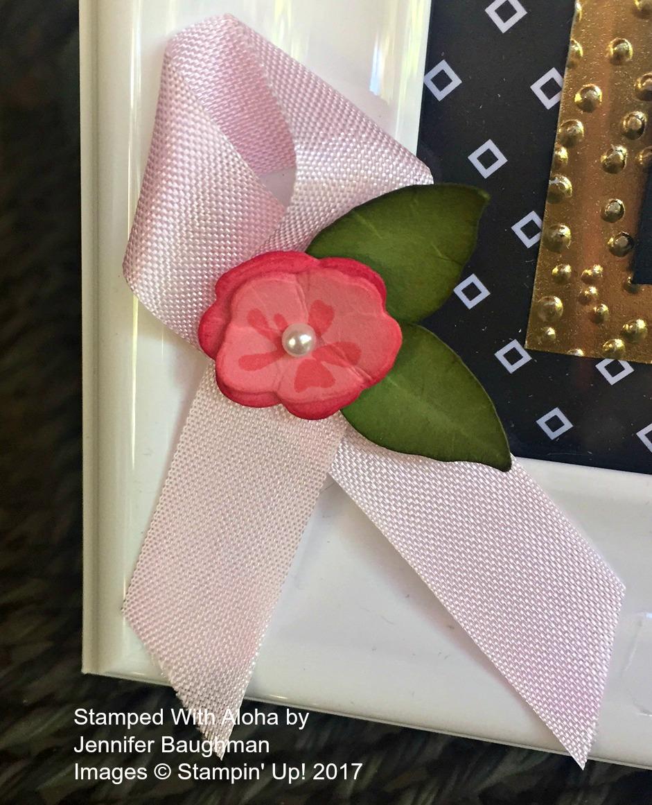 Pink Ribbon - www.stampedwithaloha.com
