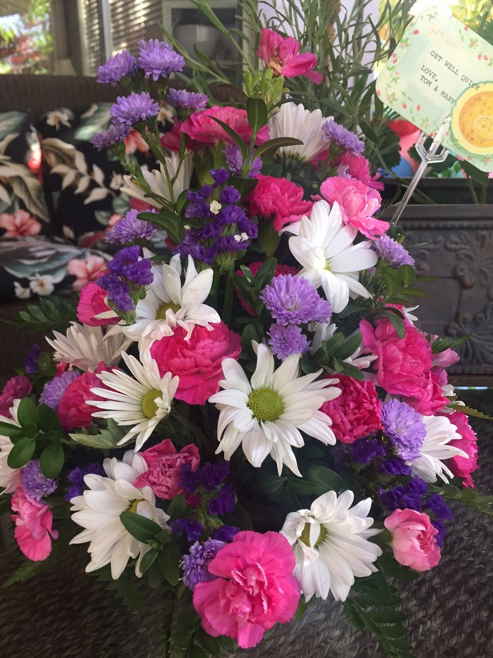 Get Well Flowers - www.stampedwithaloha.com