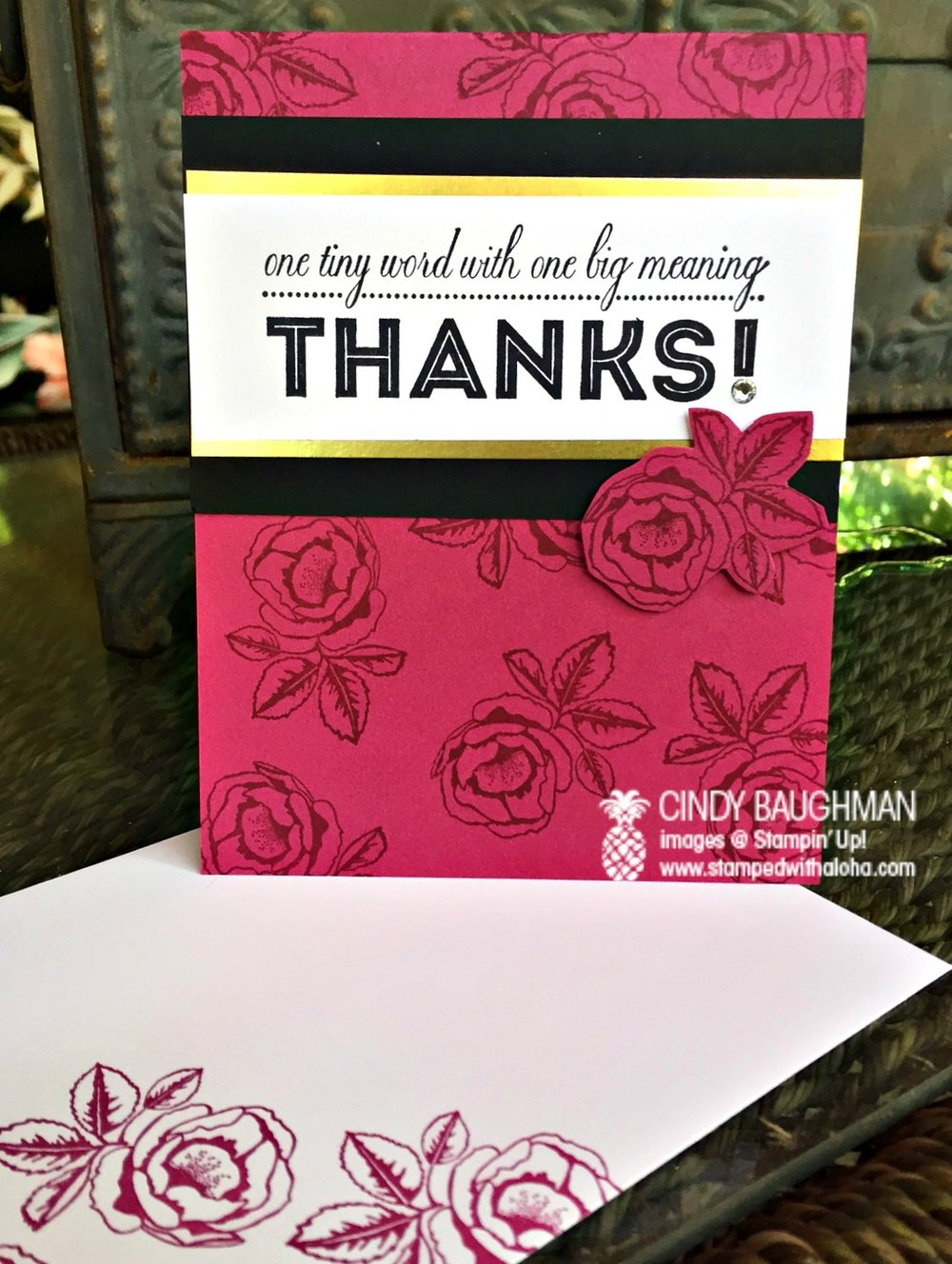 Graceful Garden Thank You Card - www.stampedwithaloha.com