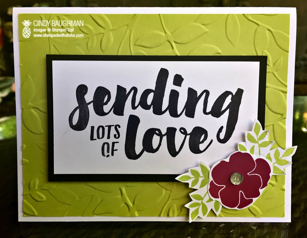 Lots of Love Card - www.stampedwithaloha.com