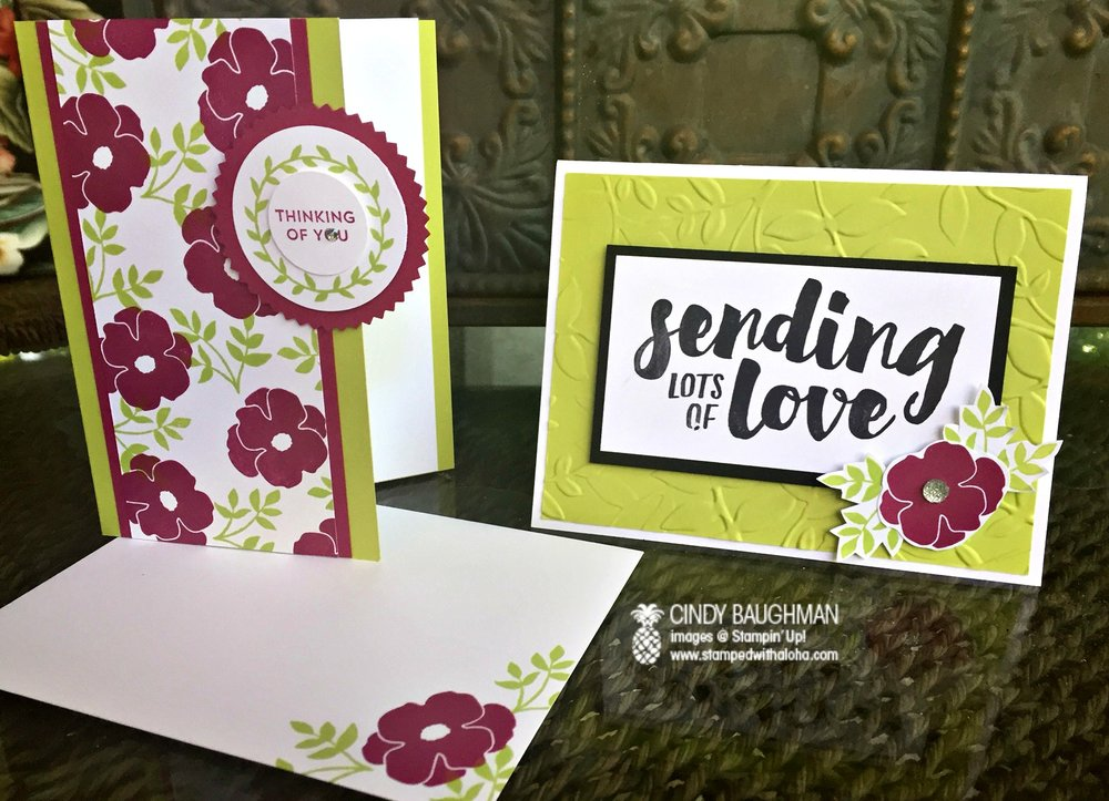 Lots of Love Cards - www.stampedwithaloha.com