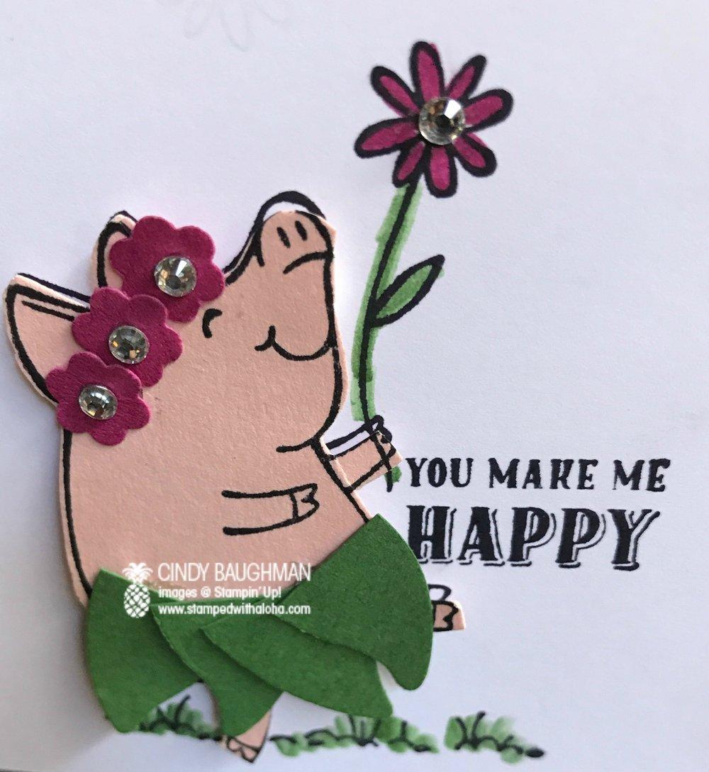 Hula Piggy - www.stampedwithaloha.com