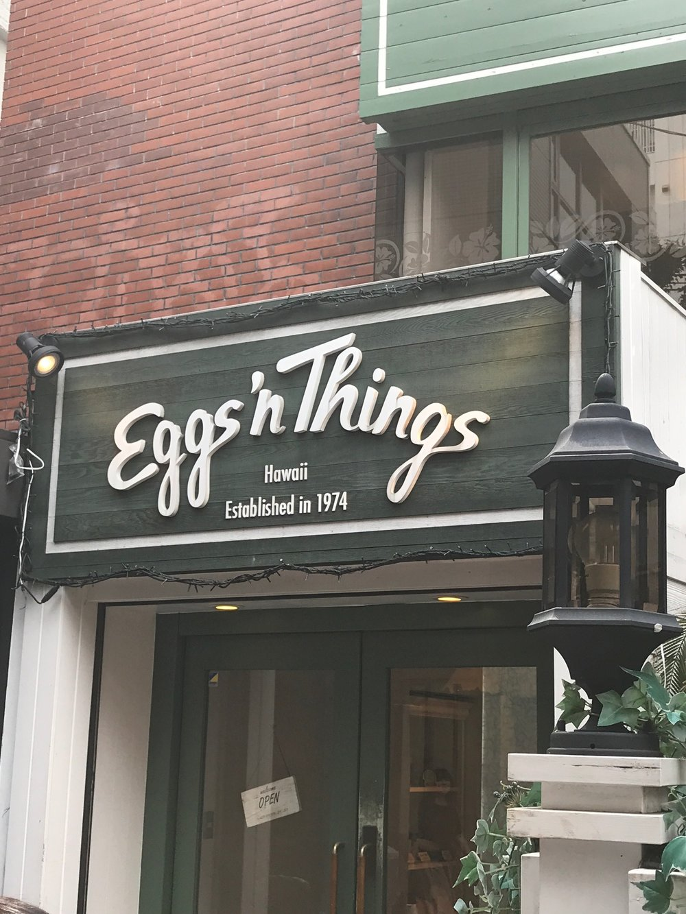 Eggs and Things, Tokyo