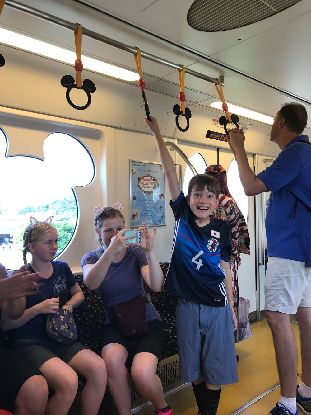 On the train to Disney Sea