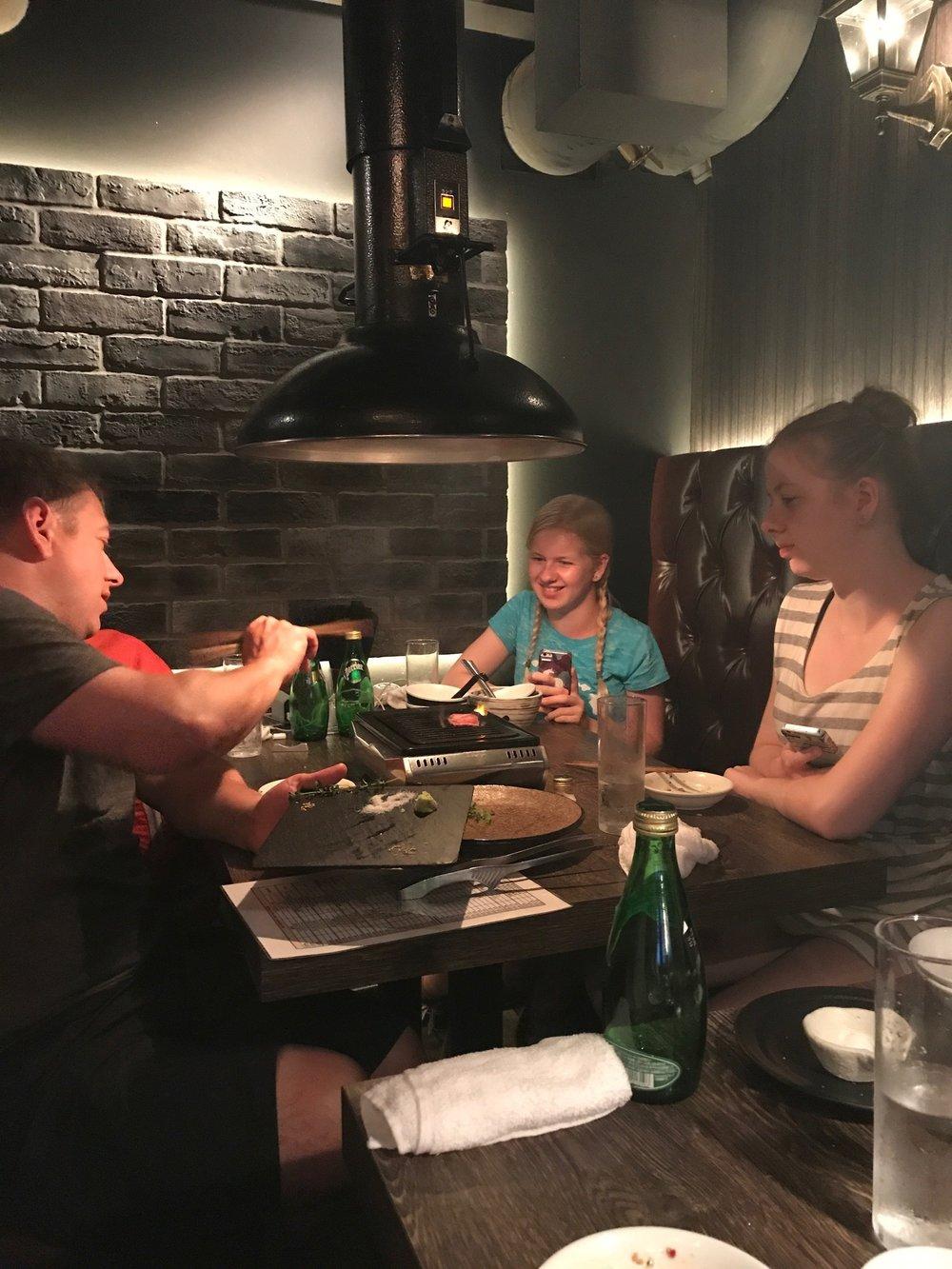 Last dinner in Tokyo