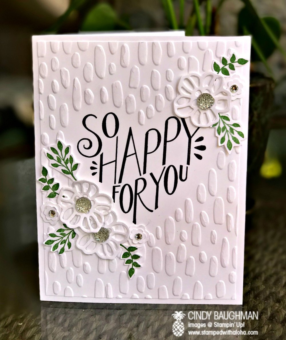 Born to Be Loved Card - www.stampedwithaloha.com