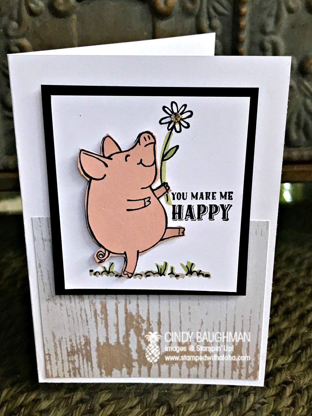 This Little Happy Piggy - www.stampedwithaloha.com