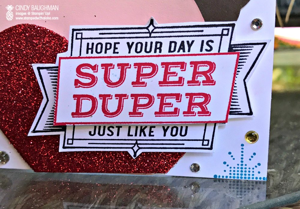 Super Duper Wonder Woman Card - www.stampedwithaloha.com