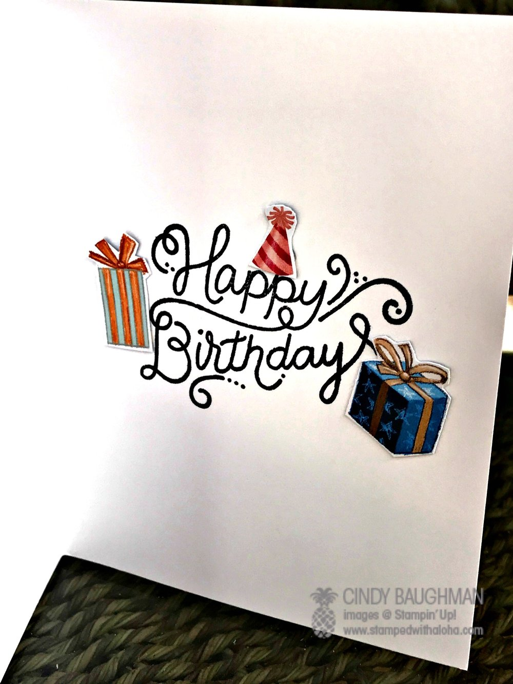 Birthday Delivery Card - www.stampedwithaloha.com