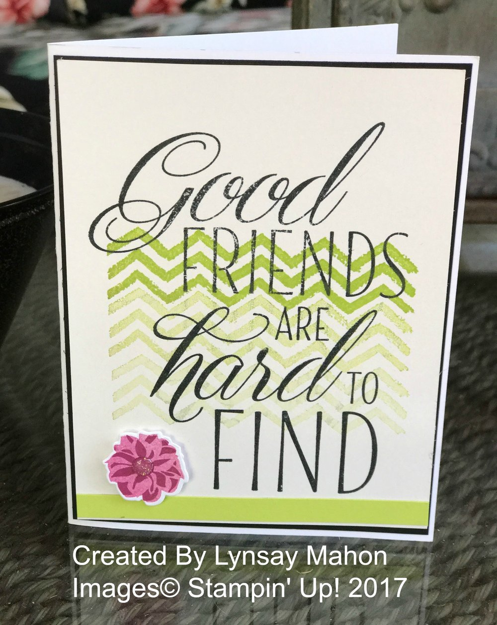 Lovely Friends Card - www.stampedwithaloha.com