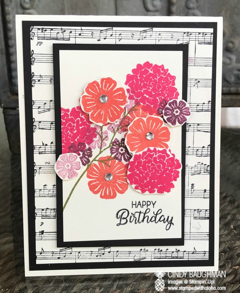 Beautiful Bouquet Card - www.stampedwithaloha.com