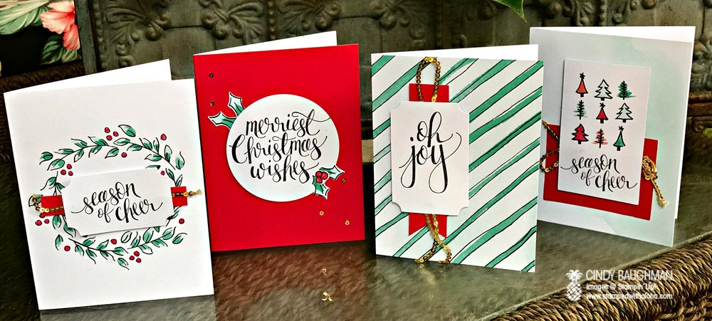 Watercolor Christmas Card Class - www.stampedwithaloha.com
