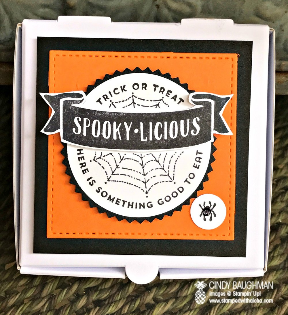 Haloween Pizza Box - www.stampedwithaloha.com