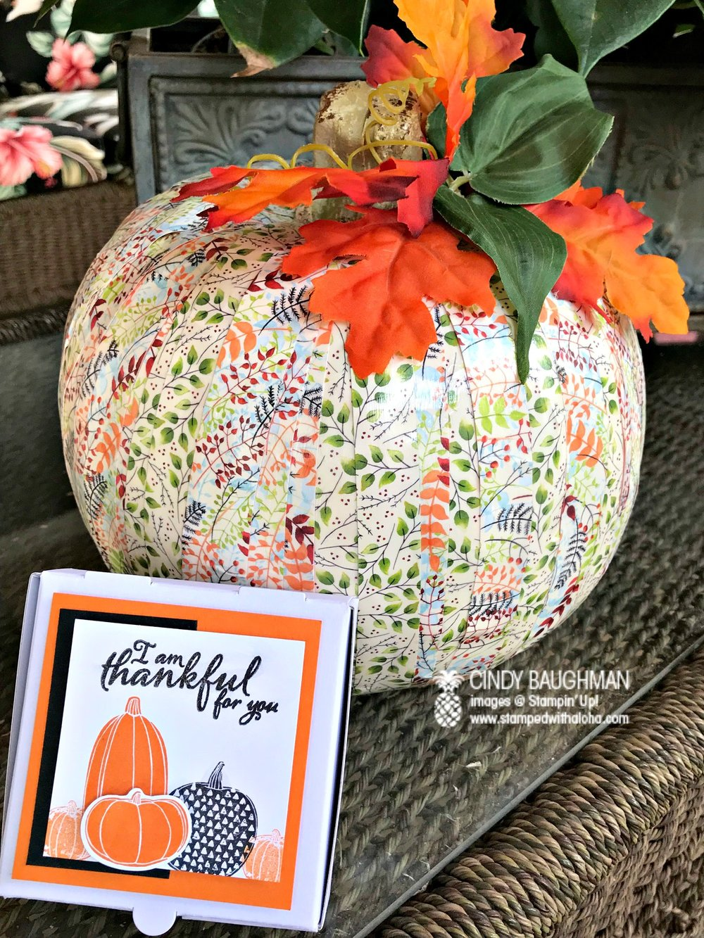 October Bunco favor and aloha prize - www.stampedwithaloha.com