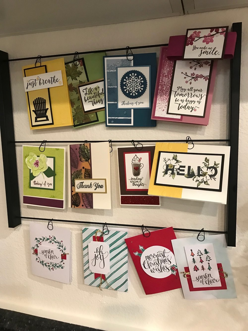 Card Display - www.stampedwithaloha.com