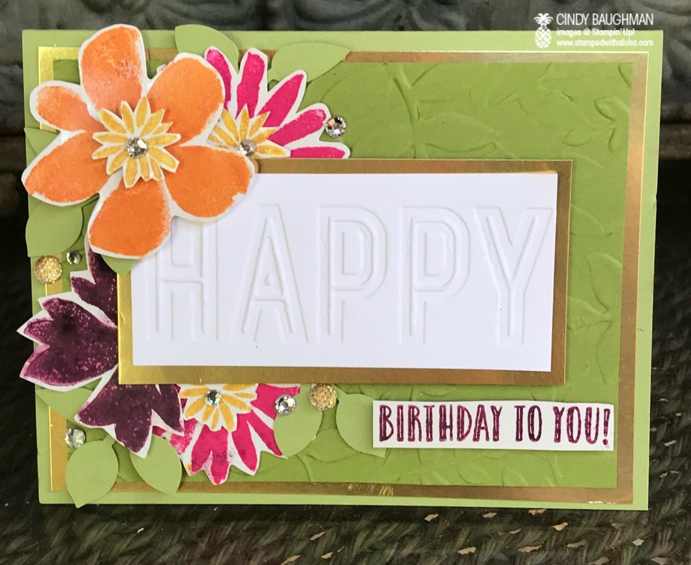 Blooms and Wishes Birthday - www.stampedwithaloha.com