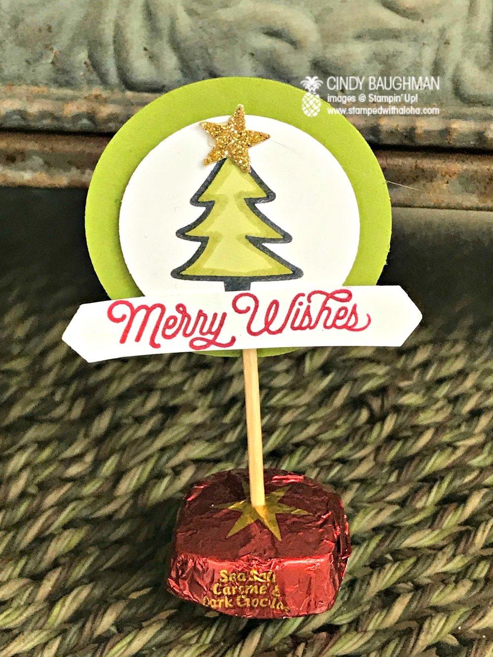 Candy Tree Make and Take - www.stampedwithaloha.com