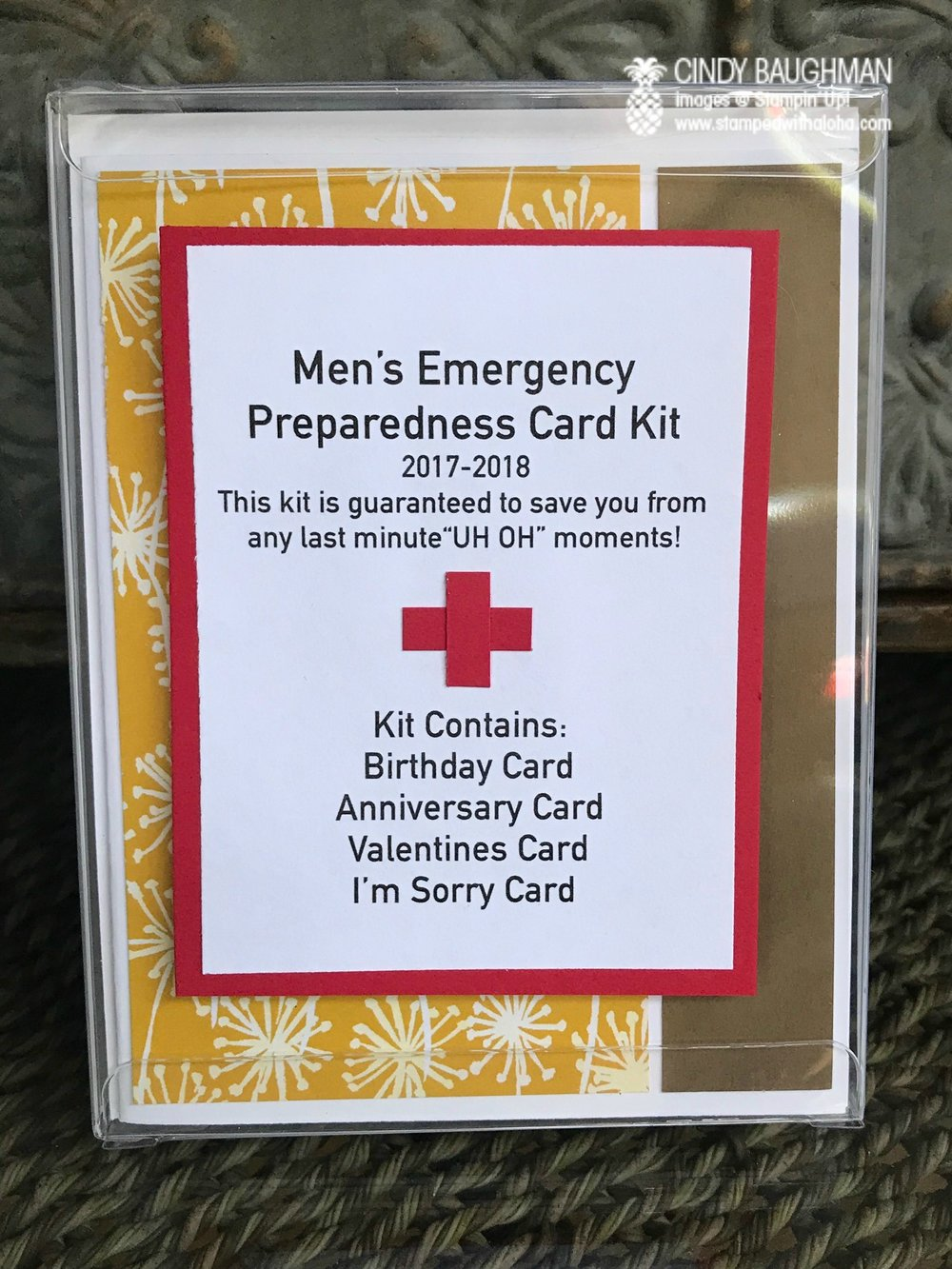 Emergency Card Kit - www.stampedwithaloha.com