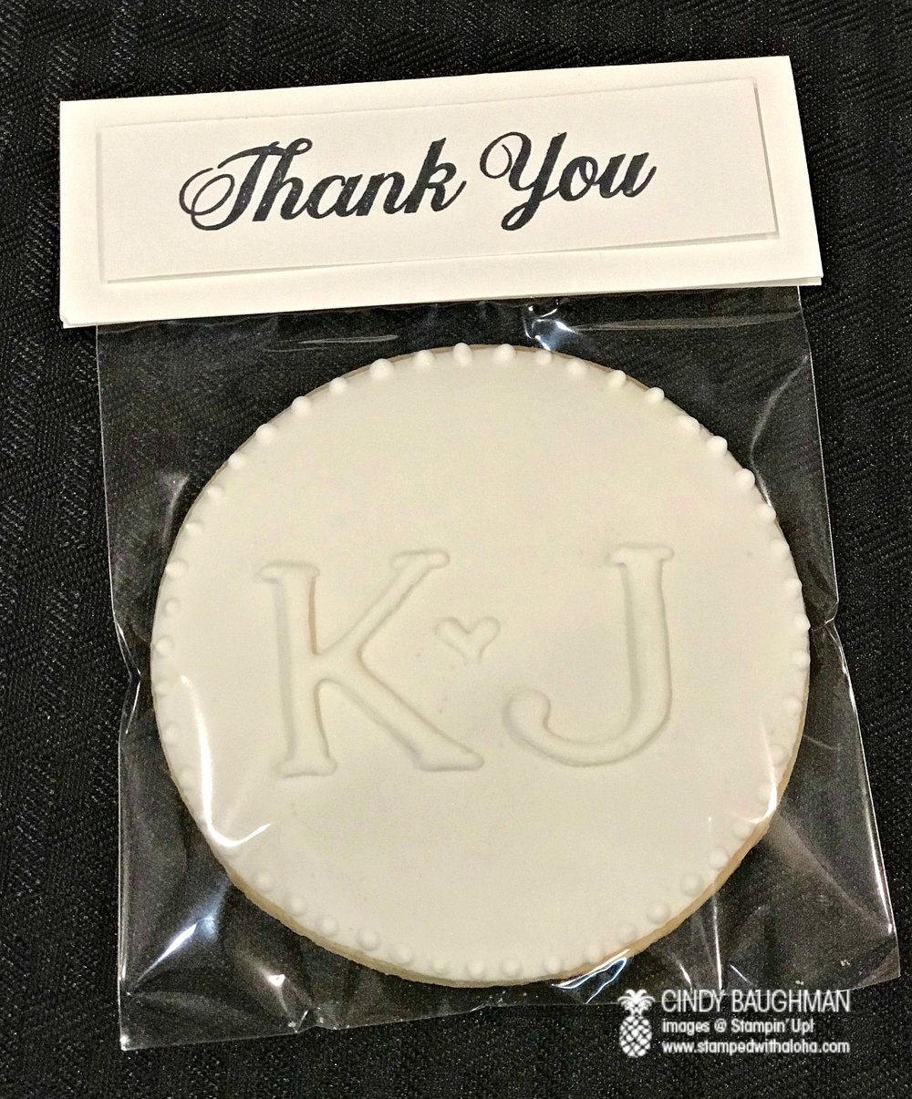 Kalani and Joyce's wedding favor