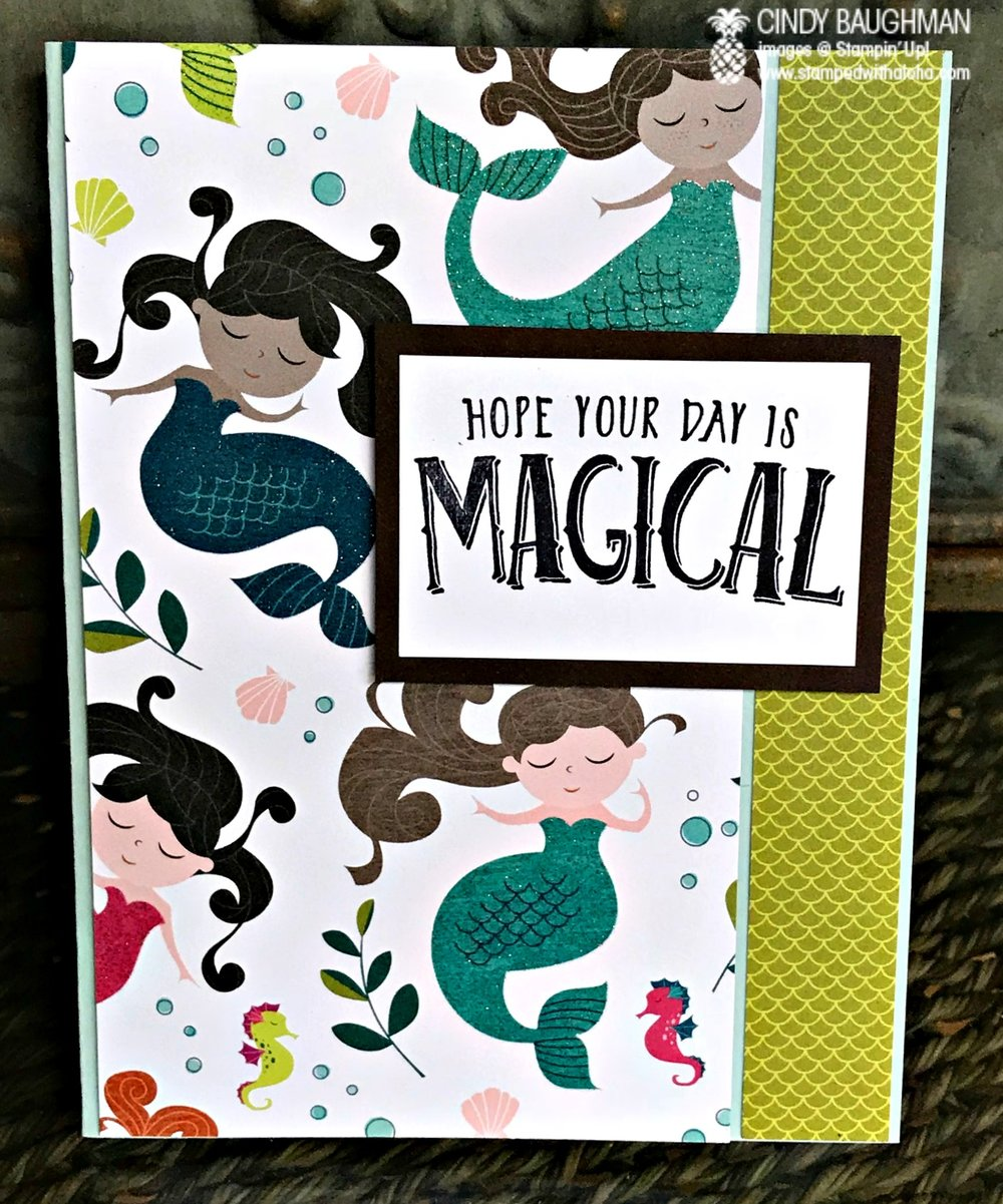 Myths and Magic Specialty Birthday Card - www.stampedwithaloha.com