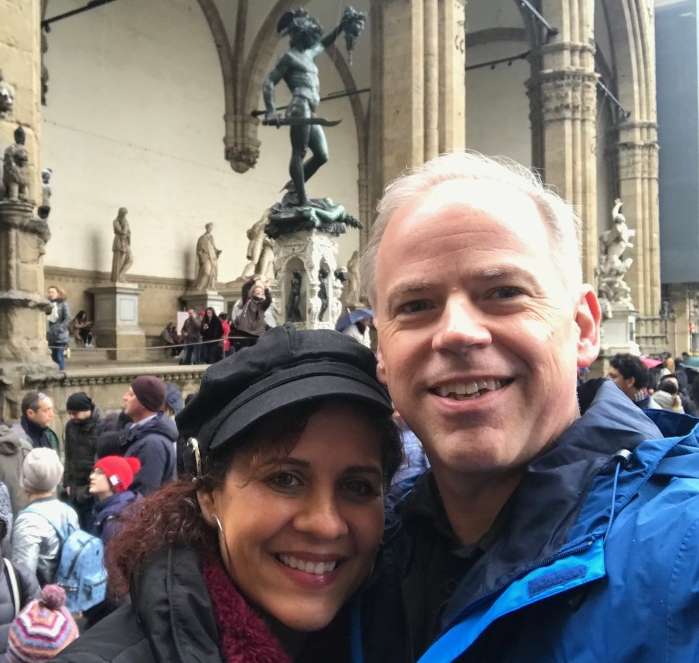 Derek and Cindy in Florence