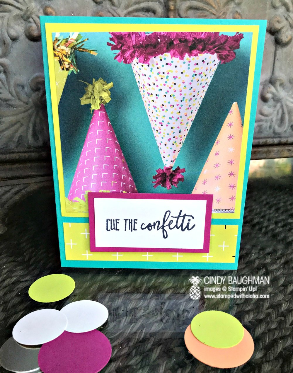 Picture Perfect Birthday Card - www.stampedwithaloha.com