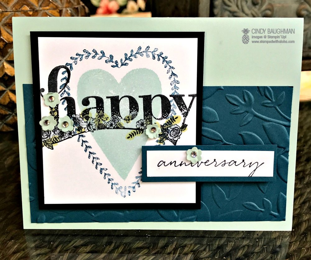 Happy Wishes Card - www.stampedwithaloha.com