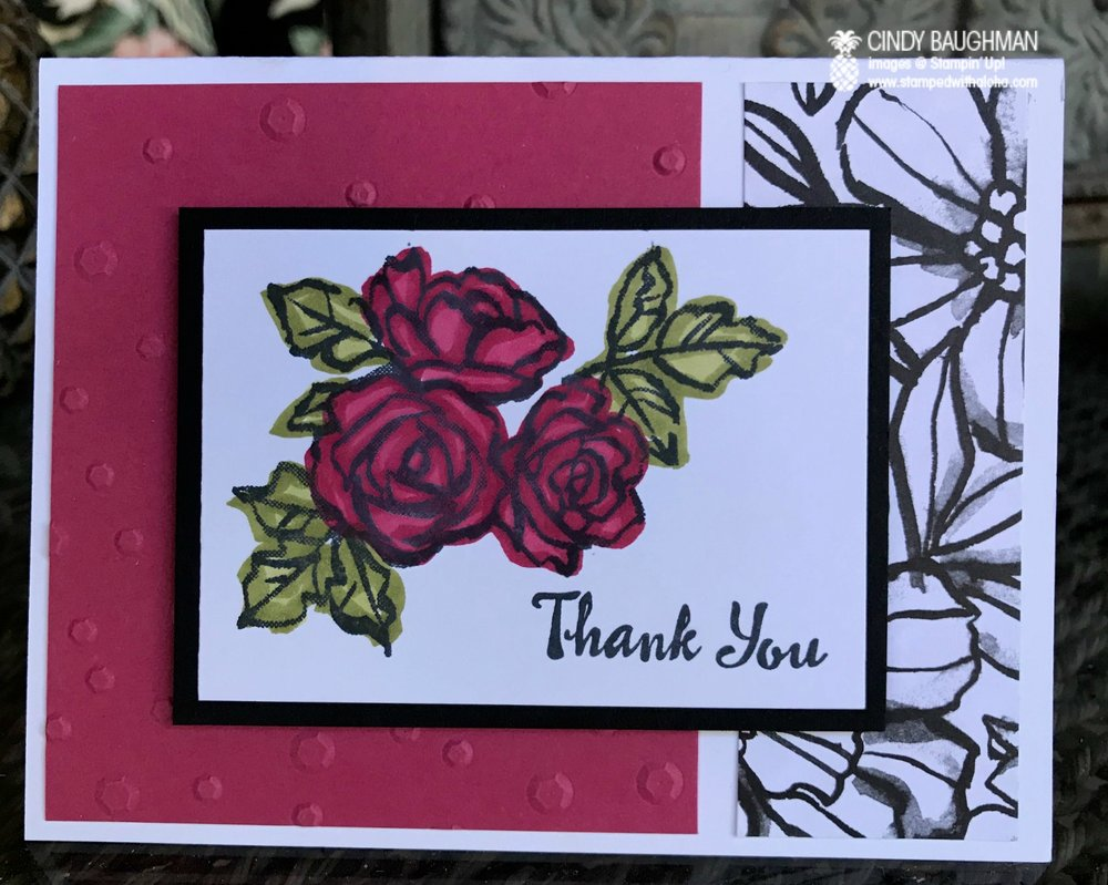 Petal Palette Thank You Card - www.stampedwithaloha.com