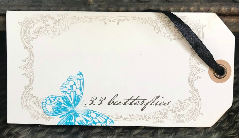 33 Butterflies Tag