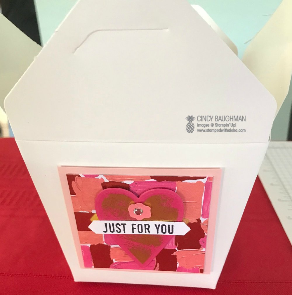 Valentine Take Out Box