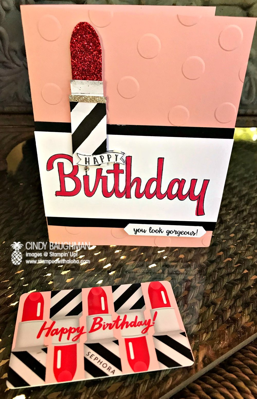 Lovely Lipstick card - www.stampedwithaloha.com