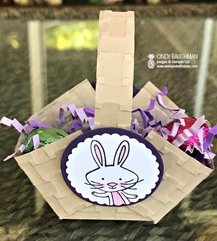 Mini Easter Basket - www.stampedwithaloha.com