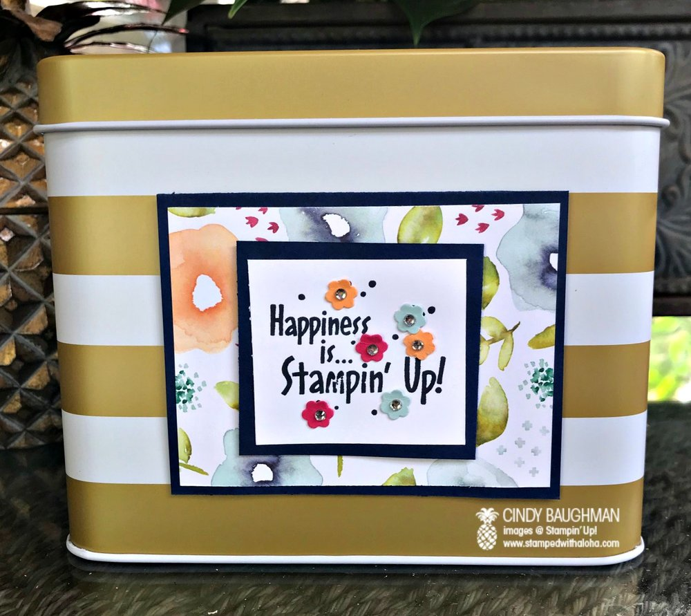 Happiness is Stampin' Up! Tin