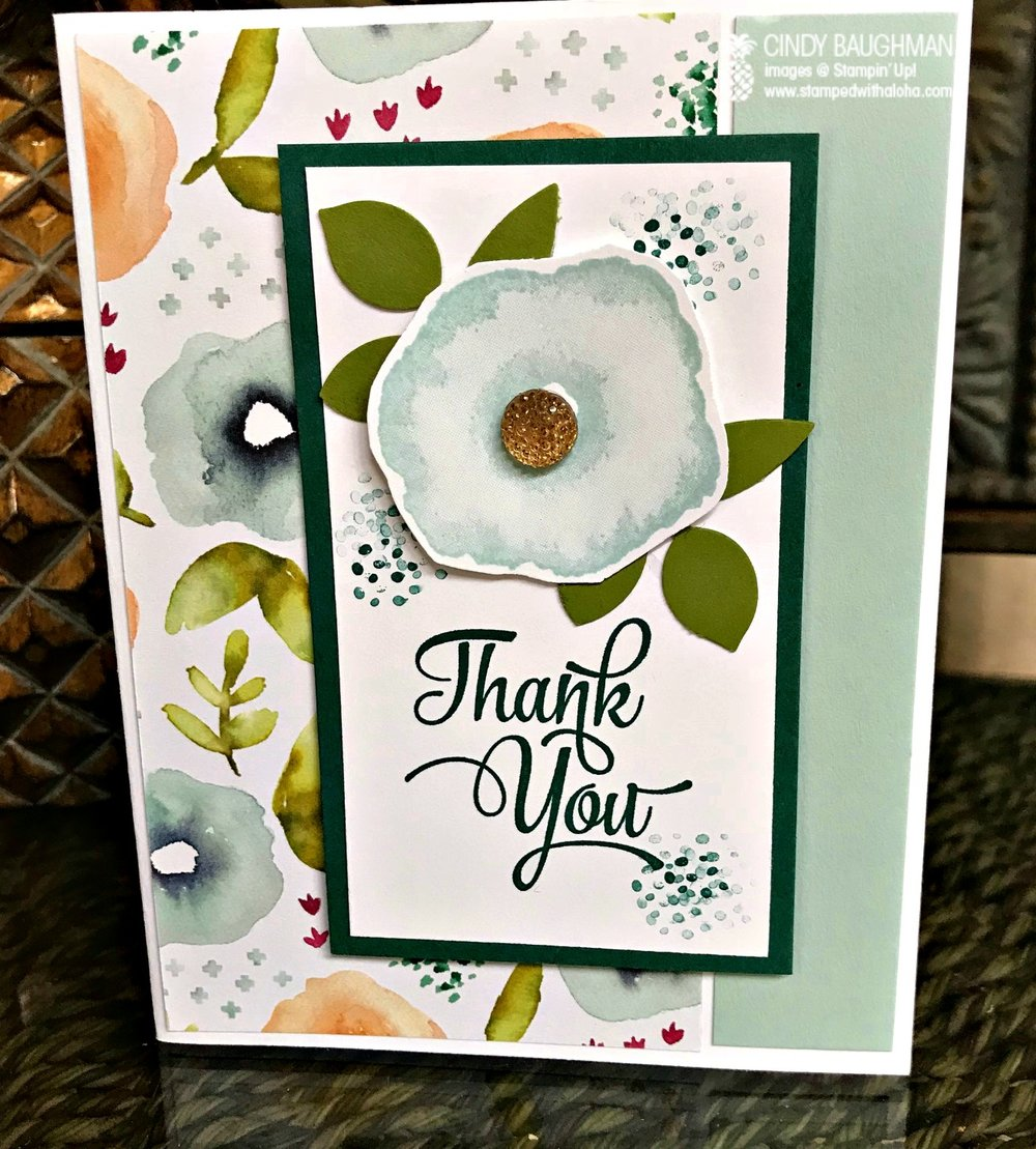 Oh So Eclectic Thank You Card - www.stampedwithaloha.com