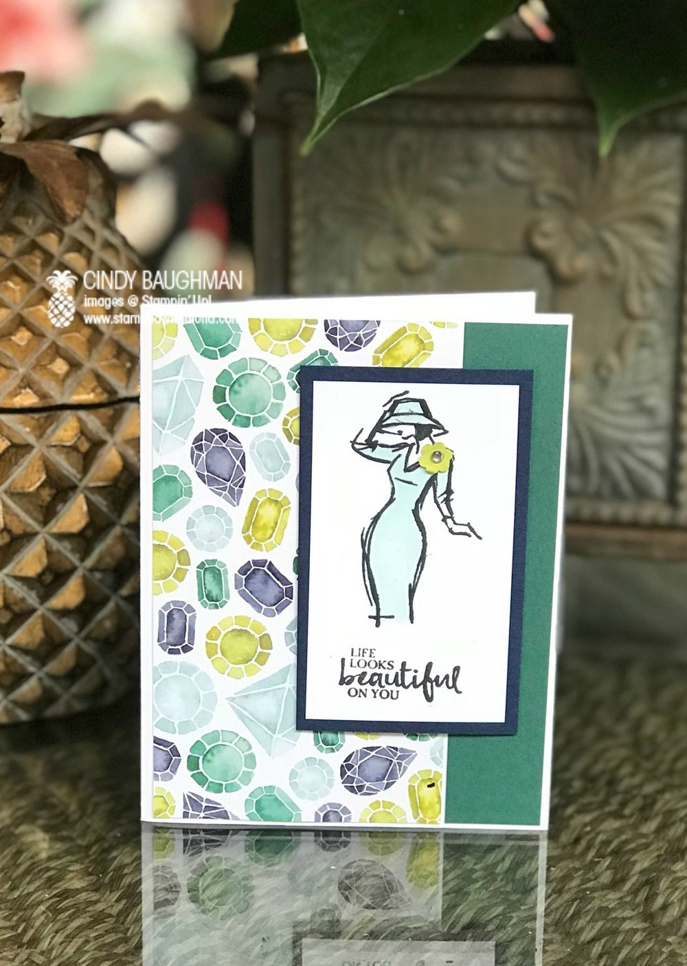 Beautiful You Card - www.stampedwithaloha.com