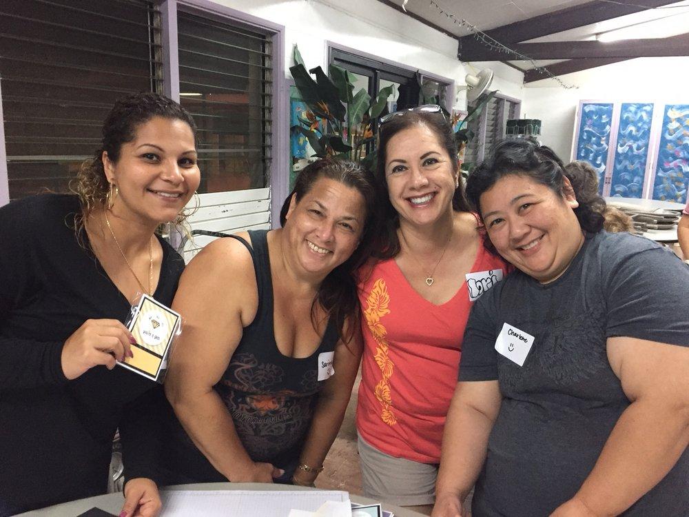 Roxy, Sarina, Lori and Charlene at Inspiration Night