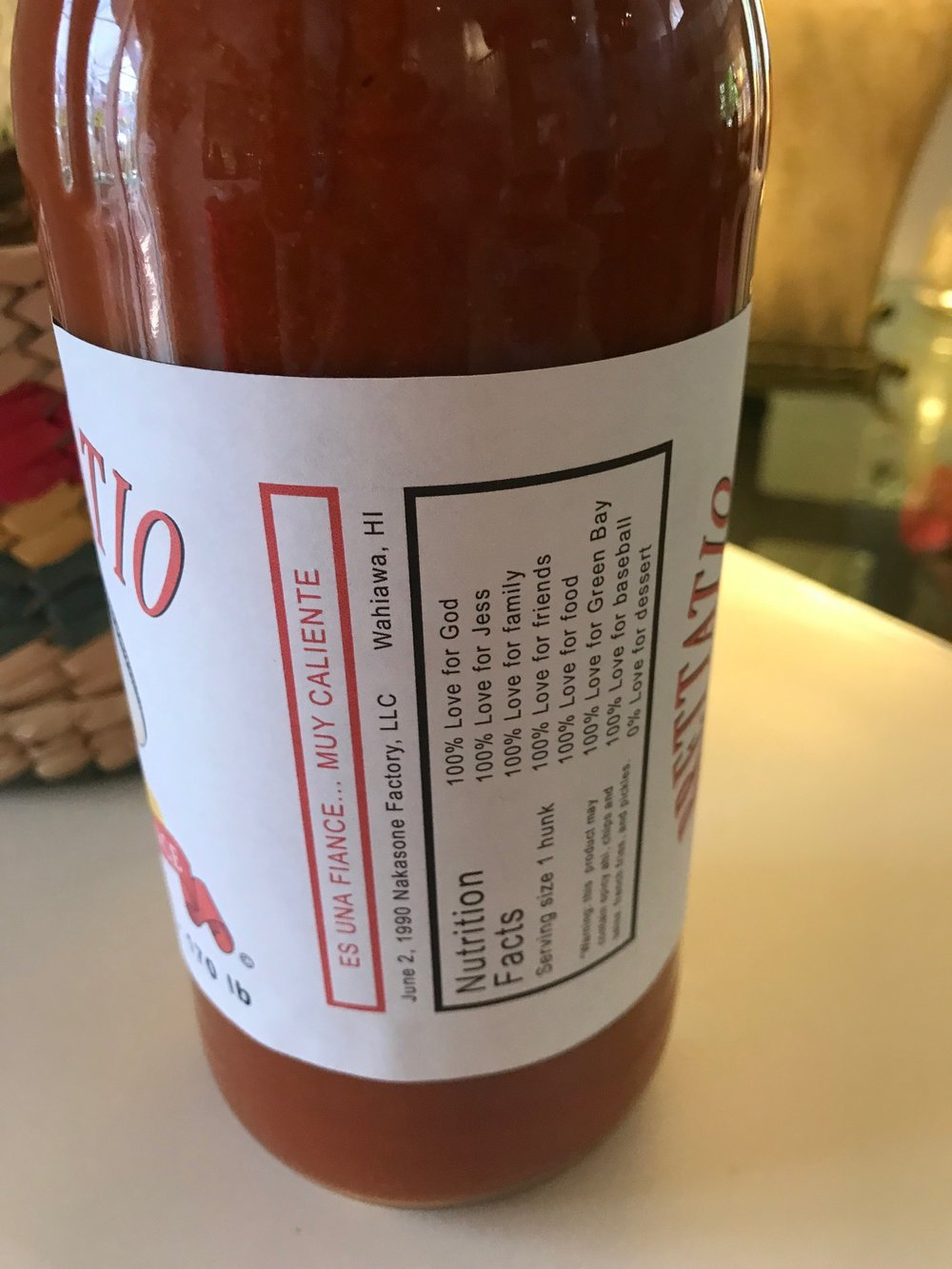 Custom Hot Sauce Label - www.stampedwithaloha.com