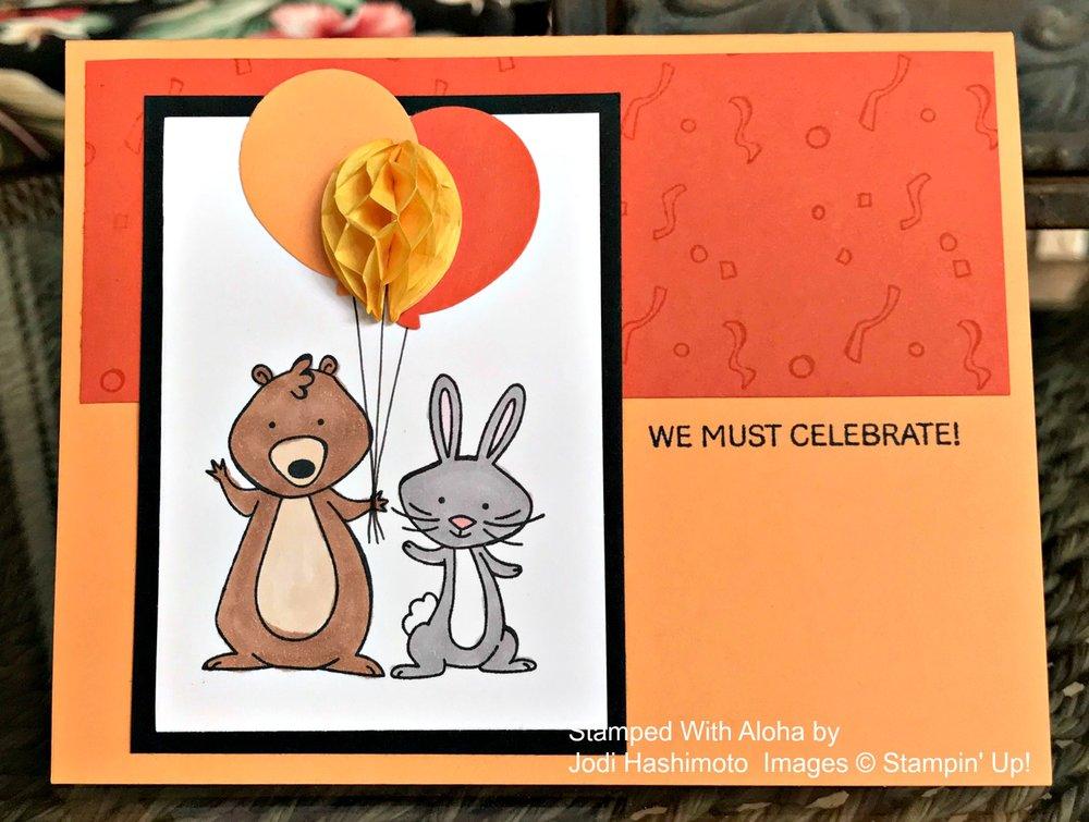 We Must Celebrate - www.stampedwithaloha.com