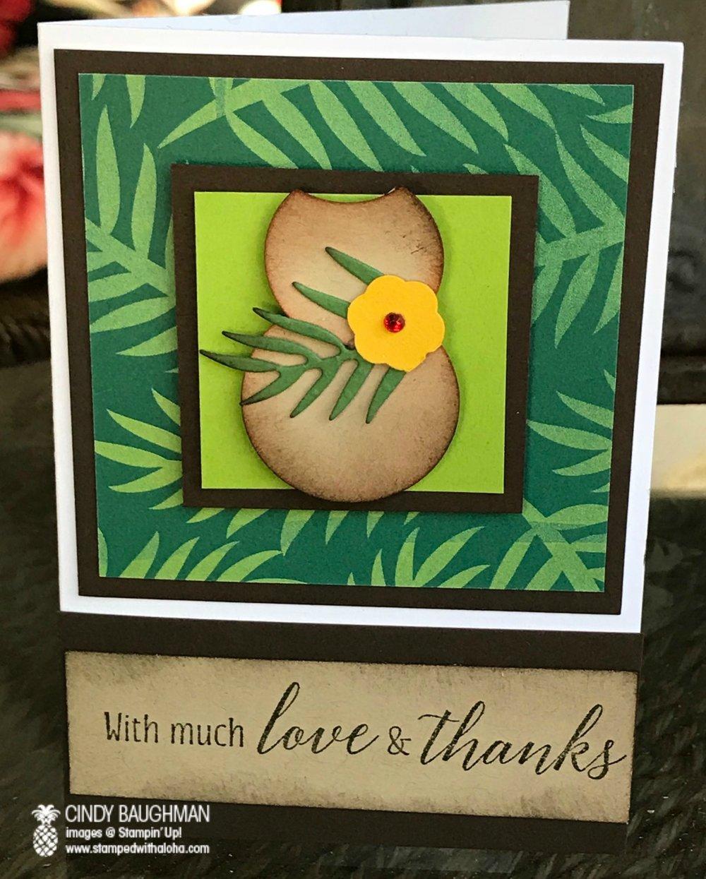 Ipu Heke Card - www.stampedwithaloha.com