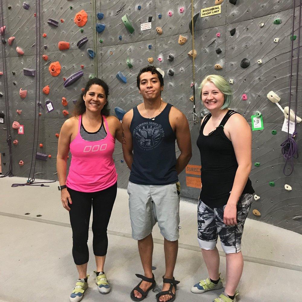 Climbing at Vertical World, Redmond